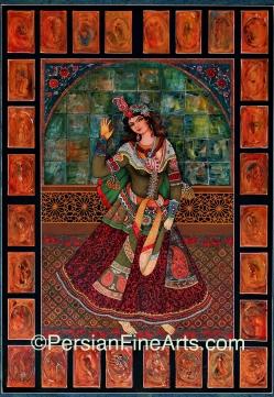 A Gajar Woman Dancer 100x70 cm