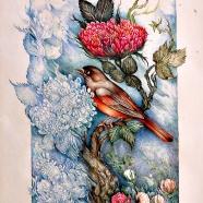 Flower and Bird 21x30 cm
