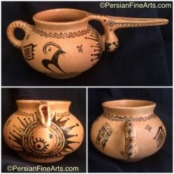 Painting on Ceramic by Mostafa Akhavass