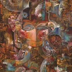 Mystic (Ostoureh) 2015 Acrylic on Canvas, 80x60 cm